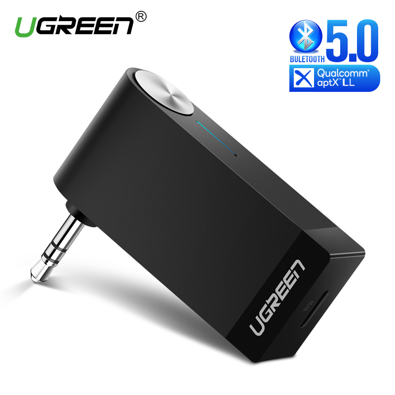 Ugreen Bluetooth Receiver 5.0 Wireless aptX LL 3.5mm Car Aux 3.5 Jack Stereo Adapter Music Headphone Bluetooth Audio Receiver-in Wireless Adapter from Consumer Electronics