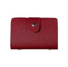 Bags 2019 PU Leather Men Women Leather Credit Card Holder Case Card Wallet Business Card 12 Bit Monederos Para Mujer Monedas