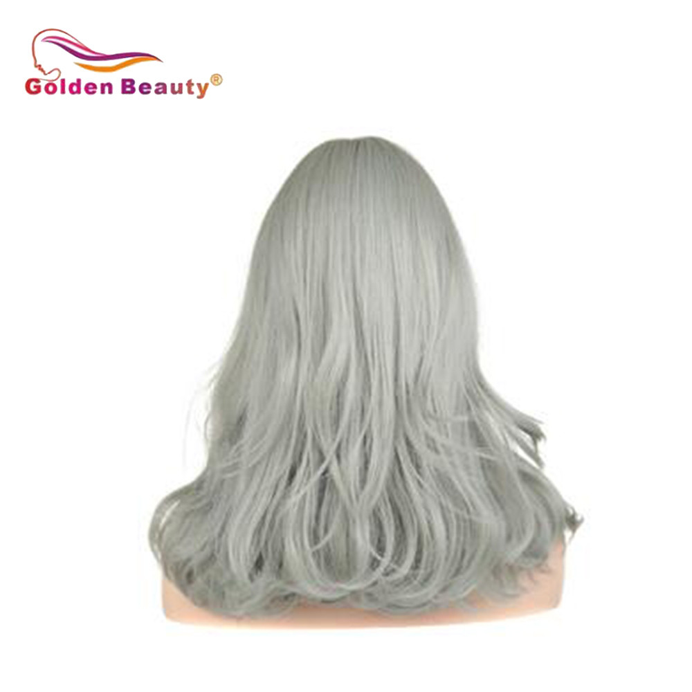 Shoulder Length Hair Synthetic Wigs For Women  Wavy Wig With Bangs Heat Resistant Cosplay Wig Brown Black Golden Beauty