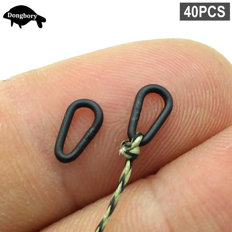 Matt Black Tear Drop Link Loops for Quick Kwik change swivels Carp Hair rigs