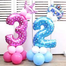 40 polegada número 1 2 3 4 5 6 7 8 9 balão de ar do hélio do dígito dos balões da folha para a festa de aniversário do casamento decorações do chuveiro do bebê globos