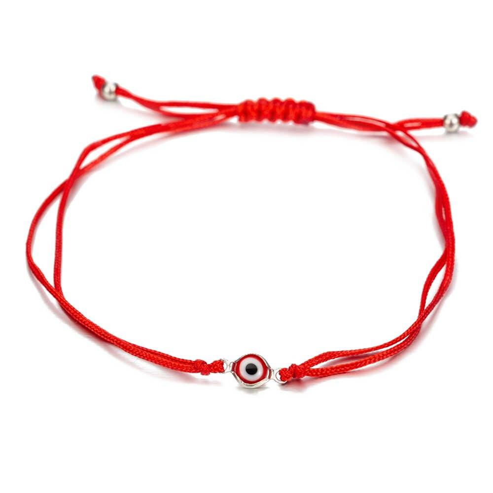 Ручной Тканый красный черный браслет со сглаза для женщин мужчин детей регулируемый браслет с красной нитью