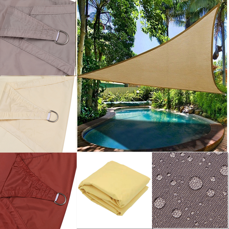 Triangle Waterproof Sun Shade Sails For Garden   Shelter Outdoor  Sunshade Cloth Canopy Outdoor  Protection Awning Balcony Cover