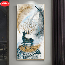 Diamond Embroidery Painting Cross-Stitch Mosaic Abstract-Art 5d Diy Square Full Deer