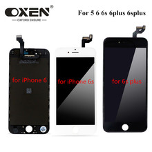 OXEN White&Black LCD Display for iPhone 5 6 6s plus 6plus 6splus LCD Touch Screen Digitizer Assembly No Dead Pixel + Tools 10pcs free dhl tracking no 100% tested fir brand new 5 5 for iphone 6 plus lcd screen display digitizer assembly white black