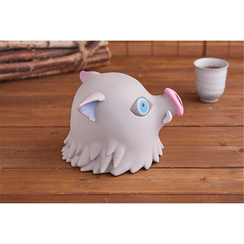 Demon Slayer: Kimetsu no Yaiba Funny Hashibira Inosuke Piggy Bank Action Figure Toys PVC Anime Figures Gifts for Kids Girls