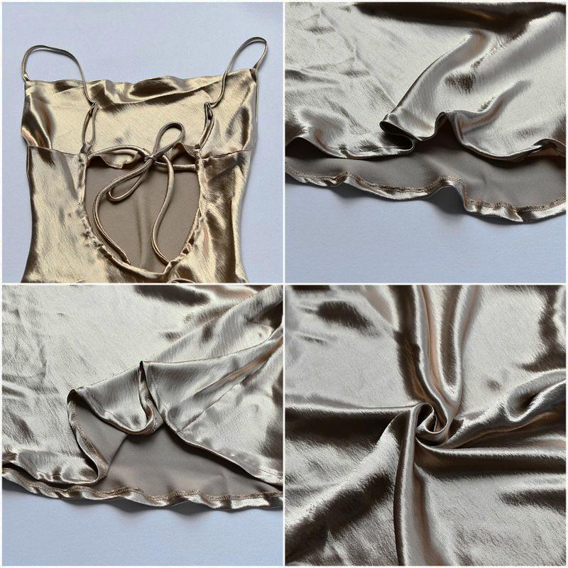 JULISSA MO Sexy Spaghetti Strap Backless Summer Dress Women Satin Lace Up Trumpet Long Dress Elegant Bodycon Party Dresses 2021