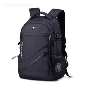 Image 3 - mochila Swiss Mens anti theft Backpack USB Notebook School Travel Bags waterproof Business 15.6 17 inch laptop backpack women