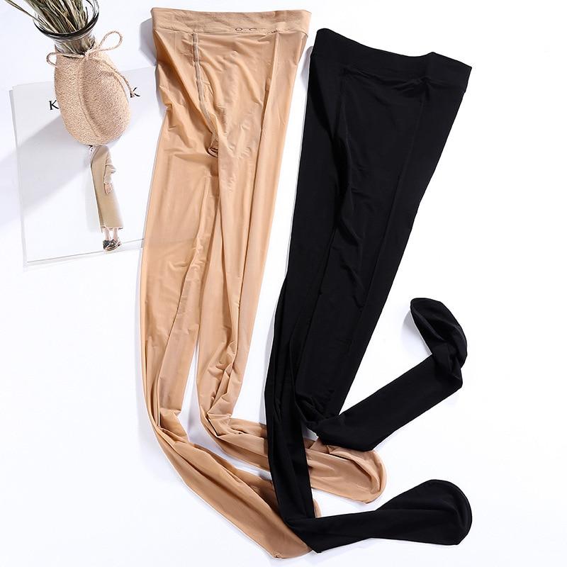 2020 Spring Autumn  Pluse Size Silk Seamless Leggings Thin Silk Invisible Anti Silk Pant Hose Leggings Womens Leggings Pants