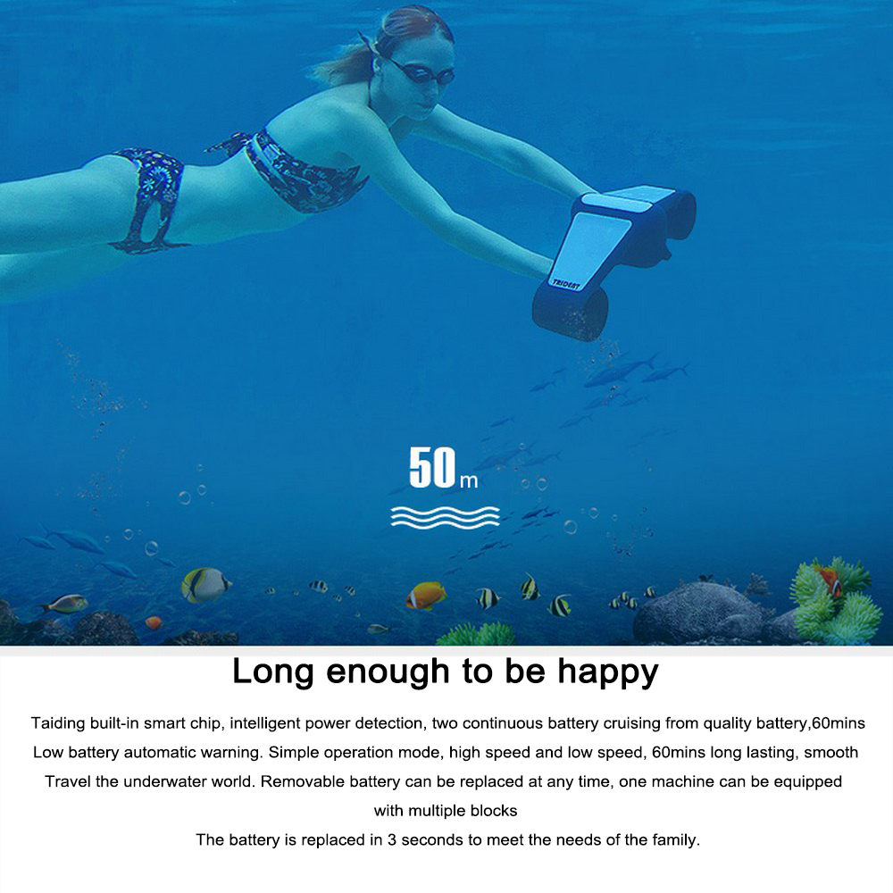Electric Underwater Scooter Swimming Adjustable Speed Propeller Diving Pool Scooter Water Motocycle Sports Equipment 2020 Hot