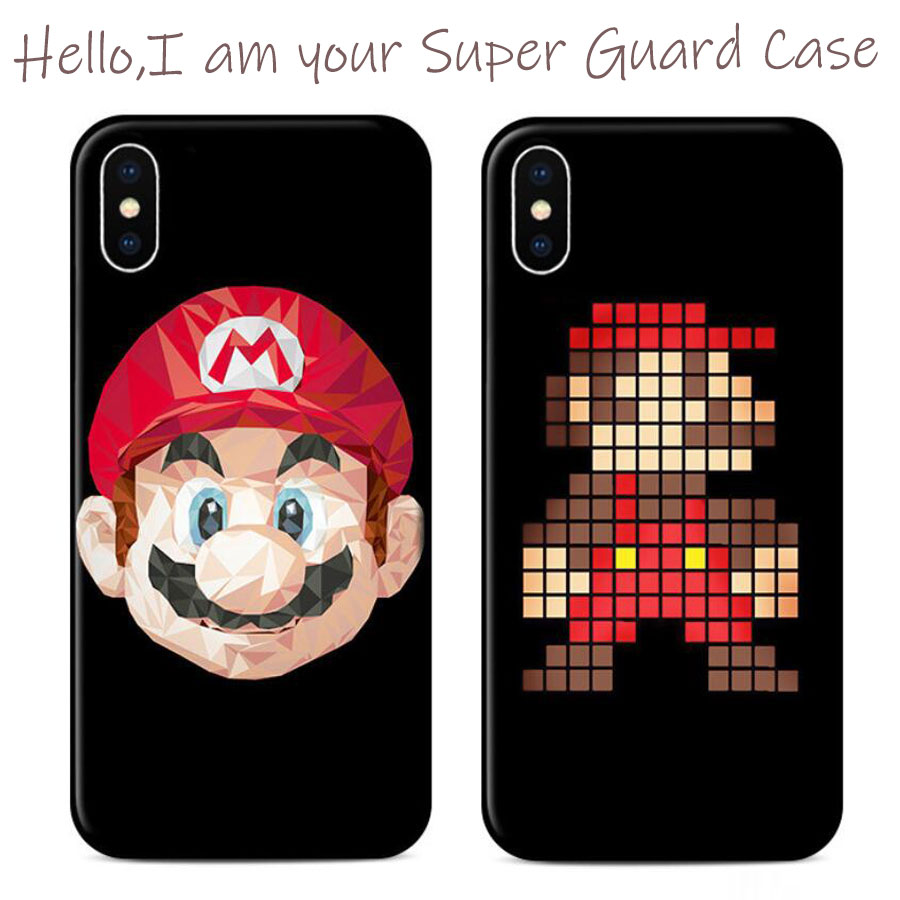 For iPhone 11 Pro ins Super Mary Mari Case 3D Embossed Cartoon Soft Silicone Shell Cover for iPhone xr xs max 7 X 8 6s Plus
