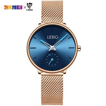 цена New Women Ladies Quartz Wristwatch Luxury Stainless Steel Brand 3Bar Waterproof Clock Montre Femme Reloj Mujer Women's Watches онлайн в 2017 году