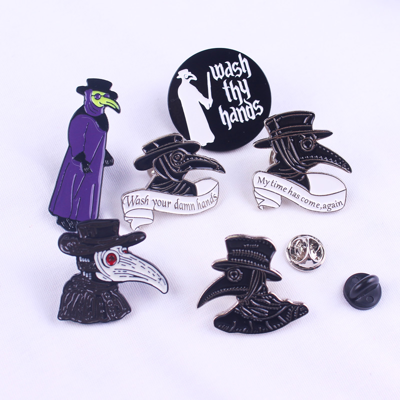 Doctor Schnabel Pin Badges On Clothes Enamel Pins For Backpack Snake Metal Badges Lapel Pin Bags Jacket Enamel Pins Jewelry Gift