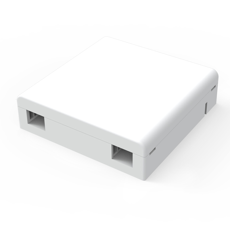 50PCS FTTH Fiber Panel Fiber Optic Terminal Junction Box 86 Information Panels 86 Desktop Box