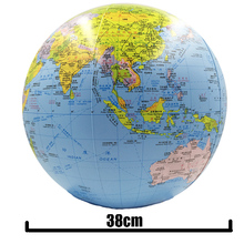Buy Inflatable Globe 38cm Map Ball Geography Learning Educational World Earth Ocean Beach Ball Kids Geography Educational Supplies directly from merchant!