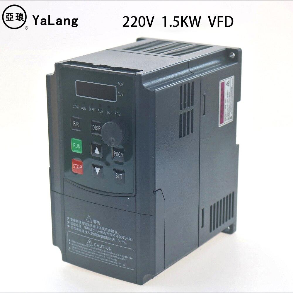 2.2KW 220V VFD инвертор 3KW 4KW 5.5KW 7.5KW преобразователь частоты 1P вход 3p выход 220В для ЧПУ шпинделя двигателя