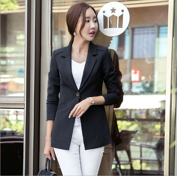 Womens Business Blazers Long Sleeve Women Blazers and Jackets Plus Size Office Blazers For Women Suits Black White Pink Green