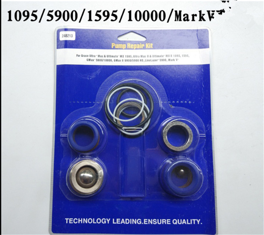 1095 1595 5900 Mark V Free Shipping  Aftermarket Pump Repair Packing Kit 248213 For Graco Sprayer 1095 1595 5900 Mark V