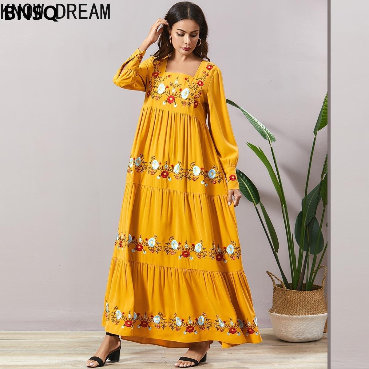 Узнайте платье мечты летняя мода большой Размеры женские измельченные вышитые в складку с длинными рукавами Повседневные кофточки с длинн...