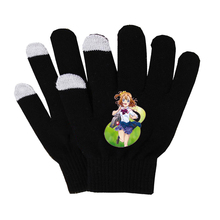 Anime lovelive Gloves Unisex Finger Cotton Warm Gloves Mobile Phone Pad