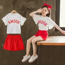 Children Girl Outfit Clothes-Sets T-Shirt Fashion Kids 12-Years Suit Pants Short 9-10