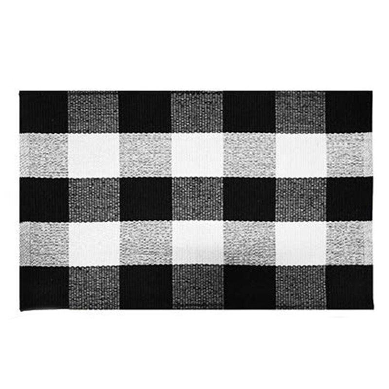 Cotton Buffalo Plaid Rugs Buffalo Check Rug 23.6Inch x35.4Inch Checkered Outdoor Rug Outdoor Plaid Doormat For Kitchen/Bathroo Carpet Home & Garden - title=
