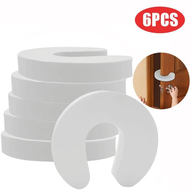 6PCS Doorways Gates Decorative Door Baby Care Soft Reusable C Shaped Door Safety Finger Guards For Cabinet Drawer Door #10 1