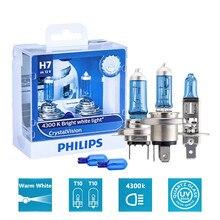 2pcs Baseus Car Accessories Philips Crystal Vision H1 H4 H7 12V 4300K White Car Halogen Head Light Auto Lamp Auto Accessories