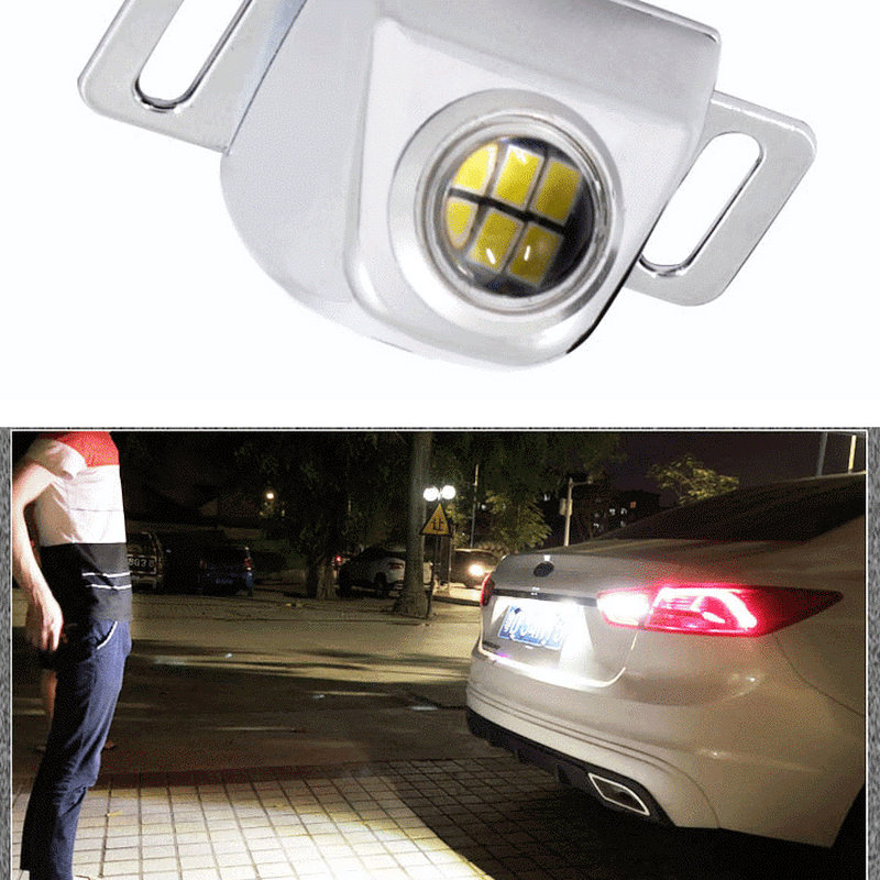Feu de recul universel Canbus pour voiture, sauvegarde externe, ampoule auxiliaire LED, Signal de virage arrière de stationnement, lumière élevée, blanc, Auto