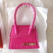 Jacquemus – Mini sac à main motif Crocodile en cuir PU pour femmes, sacoche de luxe à bandoulière avec sangle