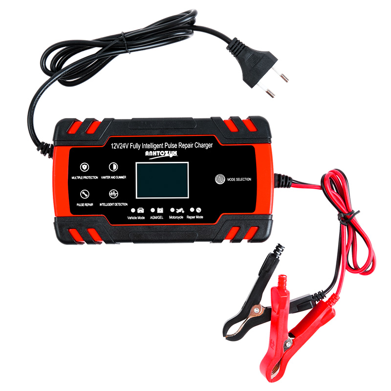 Image 5 - Car Battery Charger 12/24V 8A Touch Screen Pulse Repair LCD Battery Charger For Car Motorcycle Lead Acid Battery Agm Gel Wet-in Battery Charging Units from Automobiles & Motorcycles