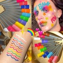 Lápis delineador líquido neon, caneta cosmética colorida neon verde e branco, matte, à prova d'água, maquiagem, delineador líquido para olhos, azul, verde e amarelo