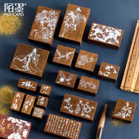 Creative Vintage Chinese Traditional Style Stamp Decoration Stationery Wooden Rubber Stamps For DIY Scrapbooking Standard Crafts