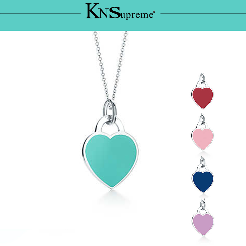 Bulgaria Jewelry pendant set necklace Original 100 925 Sterling Silver Green pink red Women High end Quality Gift in Chain Necklaces from Jewelry Accessories