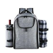 Рюкзак для пикника на открытом воздухе для мужчин и женщин, водонепроницаемая нейлоновая сумка холодильник для кемпинга и пищевых продуктов, 25 л