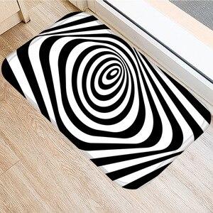 Image 5 - 40 * 60cm Visual Error Geometric Non slip Suede Carpet Door Mat Kitchen Living Room Floor Mat Home Bedroom Decorative Floor Mat.