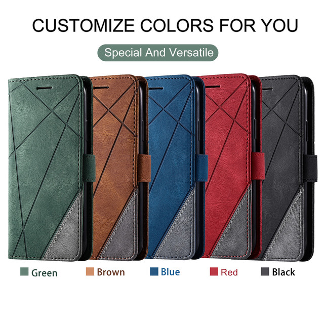 Leather Flip S7 S8 S9 Plus S10 S20 FE S21 Ultra Case For Samsung Galaxy A6 A7 A8 J6 2018 A5 J3 J5 J7 2017 Note 8 9 Wallet Cover 6
