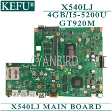 KEFU original mainboard for ASUS X540LJ with 4GB-RAM I5-5200U GT920M Laptop motherboard