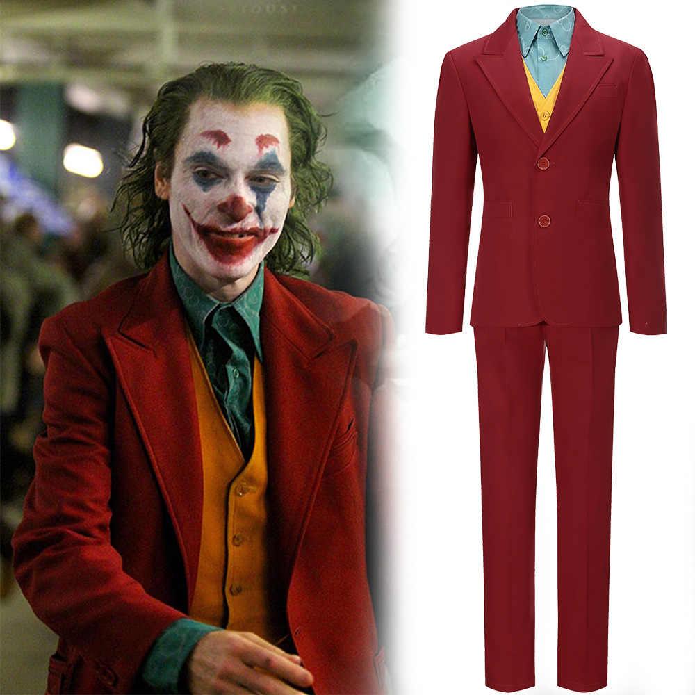 Deguisement de jeu Joker Cosplay deguisement personnalisé uniforme pour homme adulte tenue pleine veste chemise verte Halloween carnaval noel