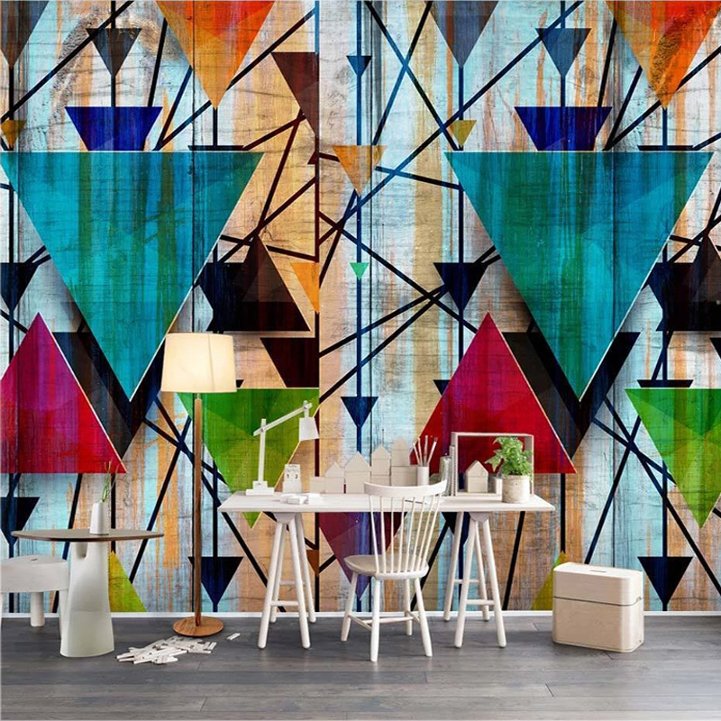 Photo Wallpaper Modern 3D Personality Color Geometry Murals Living Room TV Sofa Study Background Wall Painting Papel De Parede