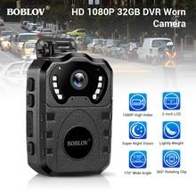 BOBLOV WN10 HD 1080P Body Cam Portable Infrared IR Night Police Camera Loop Record Security DVR Video Recorder Body Worn Camera