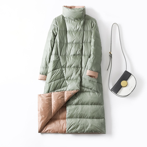 Image 5 - Duck Down Jacket Women Winter 2019 Outerwear Coats Female Long Casual Light ultra thin Warm Down puffer jacket Parka branded