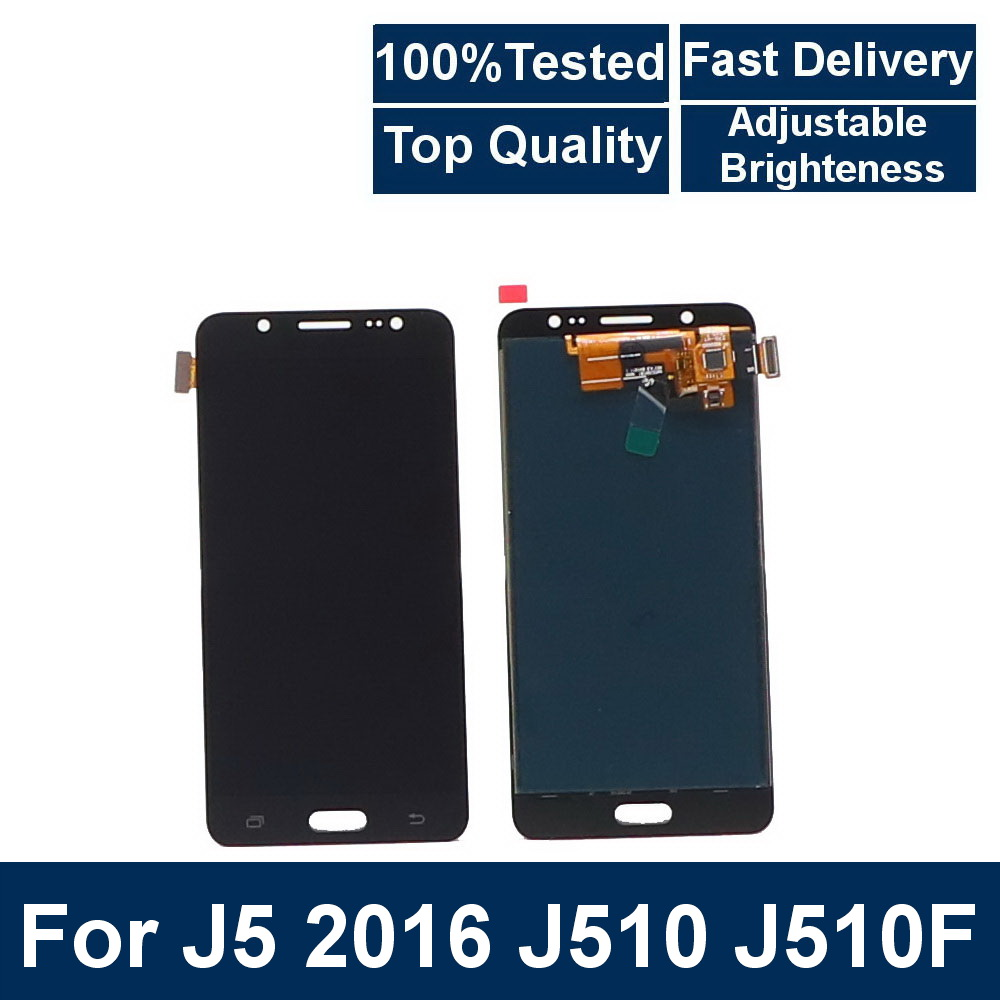 Top quality LCD For Samsung Galaxy J5 2016 J510 <font><b>J510FN</b></font> J510F J510G J510M LCD <font><b>Display</b></font> Touch Digitizer Screen Brightness Control image