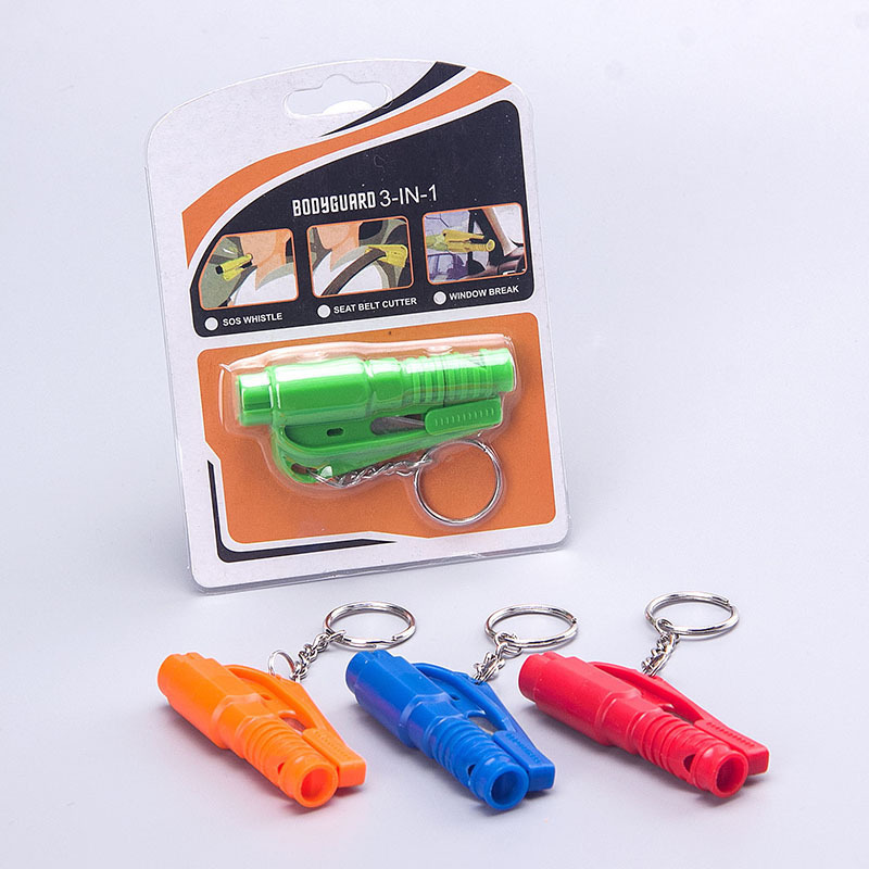Car Mounted Mini Safety Hammer Car Multi-functional Keychain Window Breaking Machine Car Emergency Escape Hammer Straps And Whis