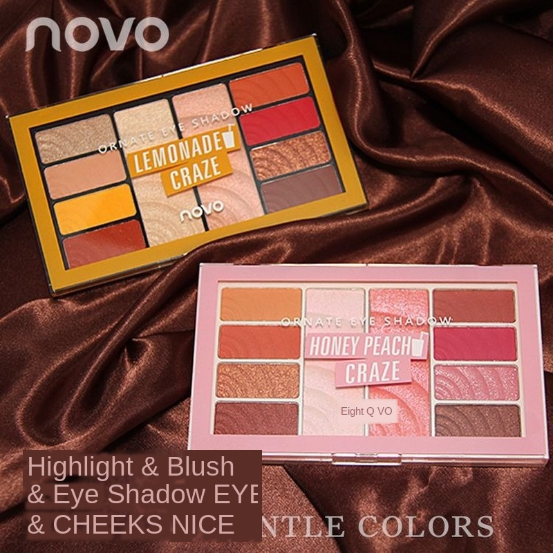 Blush Eyeshadow Palette Pearlescent Matte Earth Color Nude Makeup Beginners Ins Cheap Lazy Girl