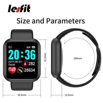 Lesfit Y68 Bluetooth Android hommes Sport montre intelligente femmes étanche Smartwatch numérique électronique Relogio horloge Fitness Tracker 2