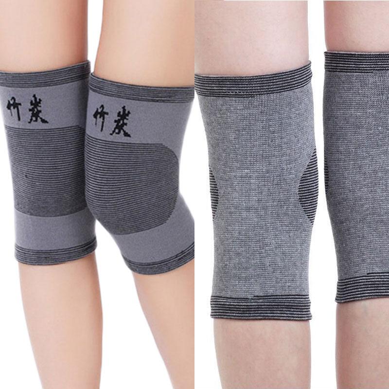 2pcs Brand Knee Pads High Elasticity Keep Warm Knee Protector Prevention Relieve Arthritis Knee Support Sports Knee Guard Graya