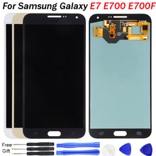 For Samsung Galaxy E7 E700 E700M E700F E700H LCD Display 5.5 Inch OLED Touch Screen Digitizer Assembly Replacement Spare Parts цена