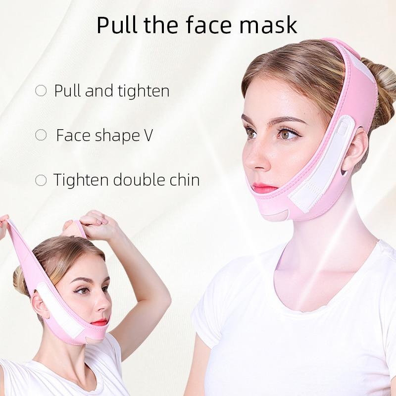 Face Slim V-Line Lift Up Mask Cheek Chin Neck Slimming Thin Strap Anti-Wrinkle Facial Thin Face Mask Slimming
