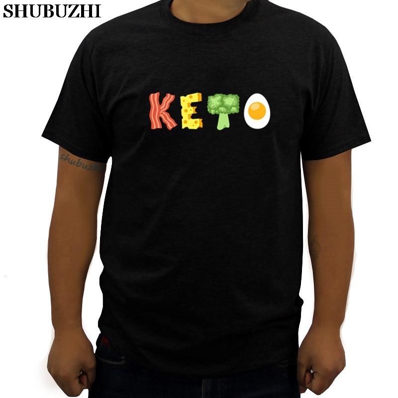 cotton t-shirt men shubuzhi brand tee Keto Low-Carb Diet T-Shirt summer fashion man tshirts